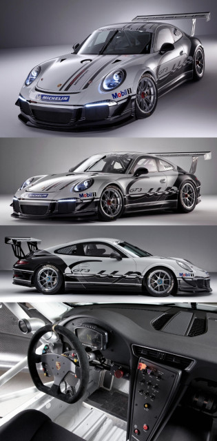 New Porsche 911 GT3 Cup race car 2013-COL